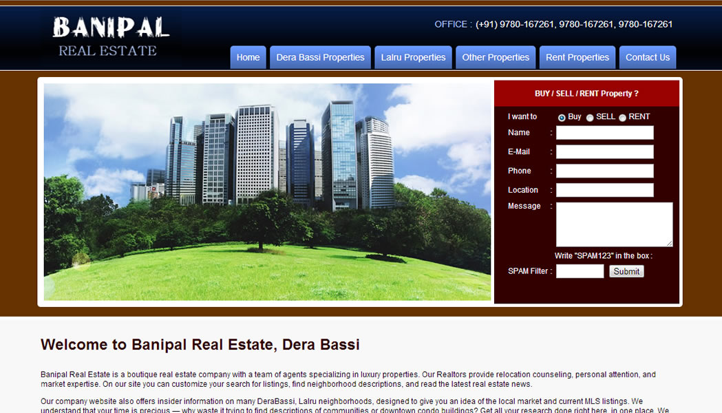 Banipal Real Estate, Derabassi