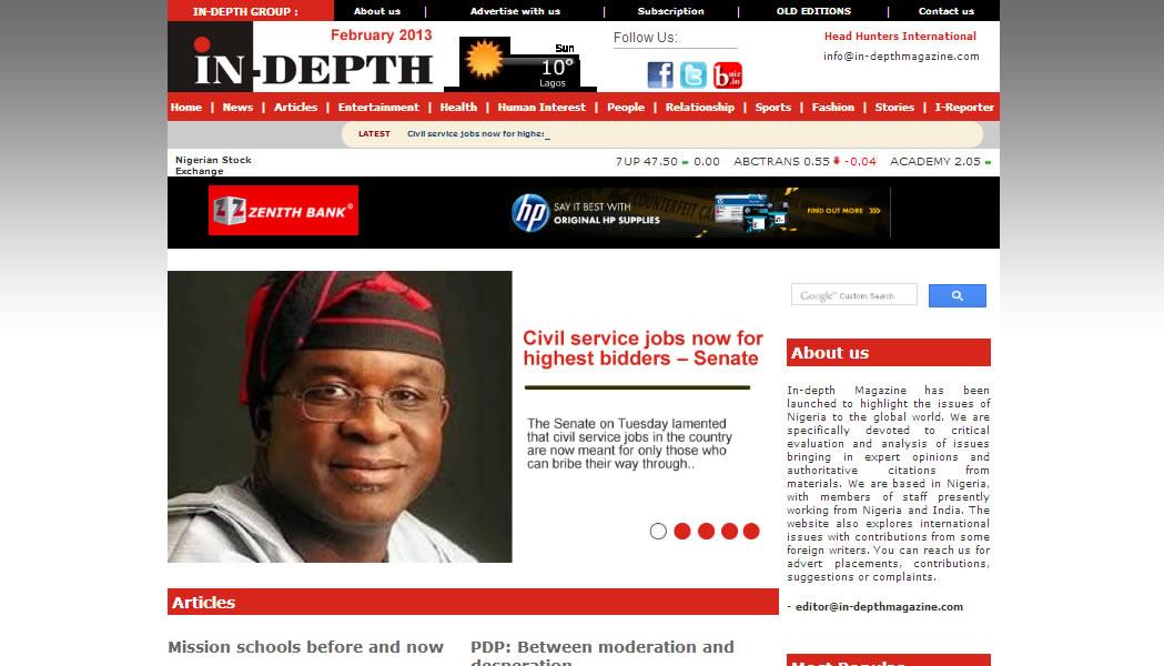 Indepth Magazine, Nigeria