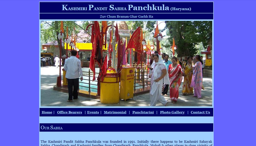 Kashmiri Pandit Sabha, Panchkula